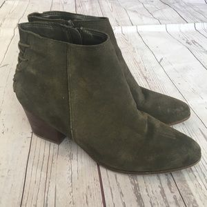 ALDO Forest Green Suede Ankle Boots